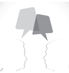 Paper cut people communicate with blank message bu vector