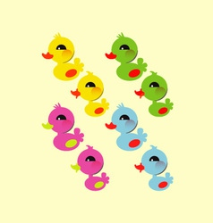 Colorful little duck vector