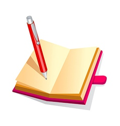 Icon diary and pen vector