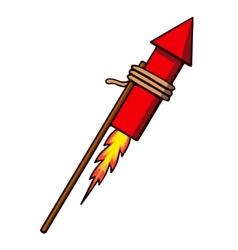 Firework rocket vector