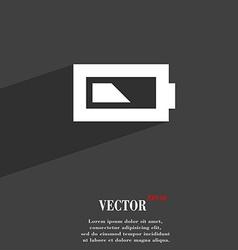 Battery half level icon symbol flat modern web vector