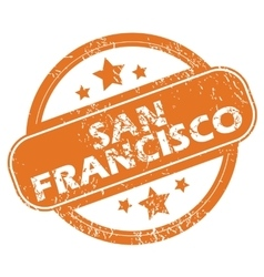 San francisco round stamp vector