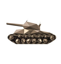 Polygonal tank vector