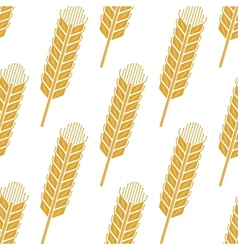 Cartoon cereal wheat or barley spikes seamless vector