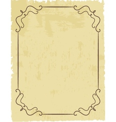 Vintage frame on beautiful background vector