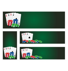 Poker banners vector