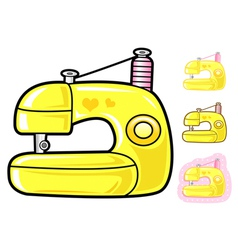 Various styles of sewing machine sets vector