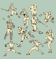 Baseball sport action vector