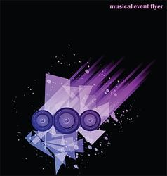 Disco club flyer vector