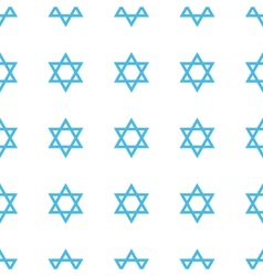 Unique judaism seamless pattern vector