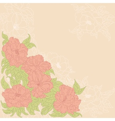 Background with flowers of wild roses vector