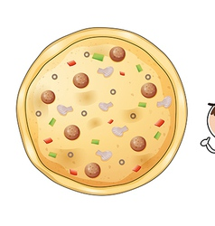 A pizza pie vector