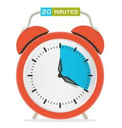 20 - twenty minutes stop watch - alarm clock vector