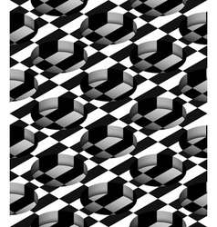 Checkered 3d cylindrical holes seamless pattern vector