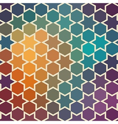 Background of repeating geometric stars spectrum vector