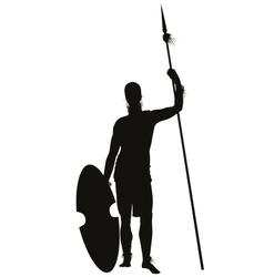 African warrior vector