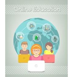 Online education for kids vector