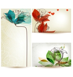 Vintage floral backgrounds vector