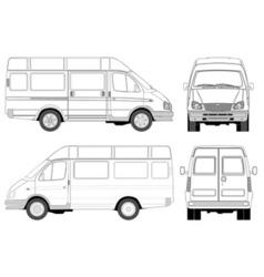 Mini bus vector