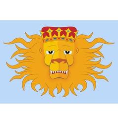 Heraldic lions head vector