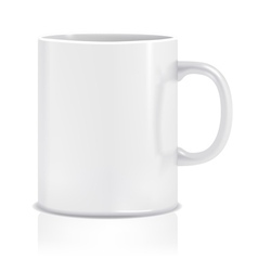 White cup vector