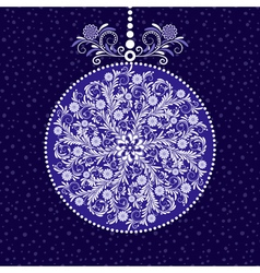Xmas blue ball vector