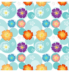 Seamless flowery design vector