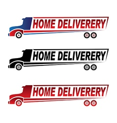Home delivery truck logo vector