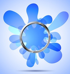 Metal ring over the blue blots vector