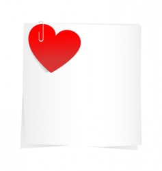 Sticker and hearts vector