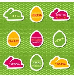Set of stickers for easter sale vector