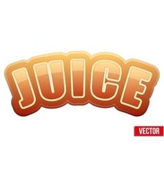 Label for apple juice bright premium design vector