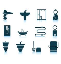 Set of bathroom icon vector