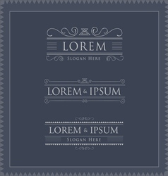 Luxury logos template flourishes calligraphy vector