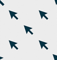 Arrow cursor computer mouse icon sign seamless vector