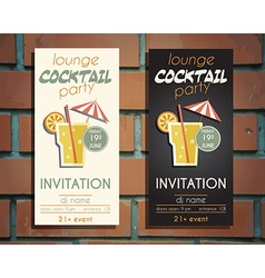 Lounge cocktail party flyer invitation template vector