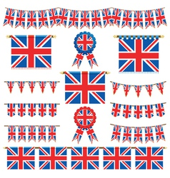 Union jack banners vector