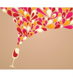 Wine glass spilling vector