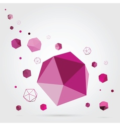 Geometric background 3d vector