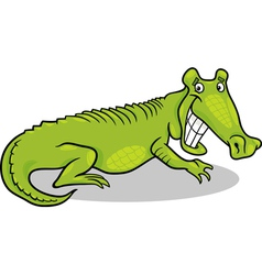 Cartoon of crocodile vector