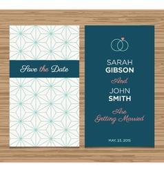 Wedding card pattern green 01 vector