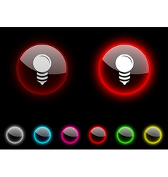 Bulb button vector