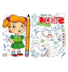 Funny doodles - back to school vector