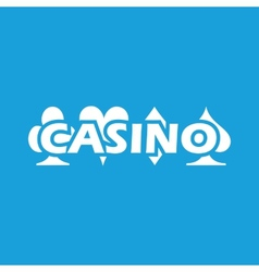 Casino white icon vector