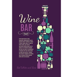 Wine bar grape vector