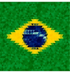 Waving fabric flag of brazil vector