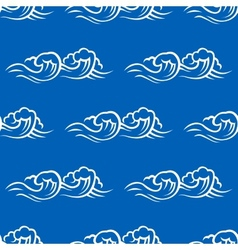 Sea waves and surf seamless pattern vector