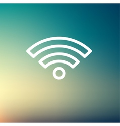 Wifi thin line icon vector