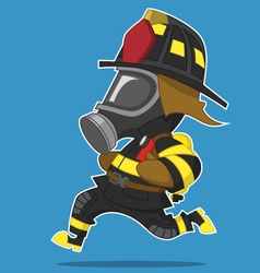 Firefighter runs vector