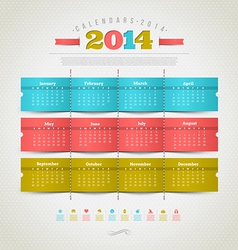 Calendar of 2014 year vector